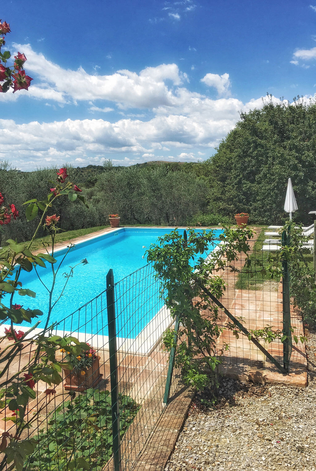 Tuscany villa rental il melograno haven in - Recinzione piscina ...