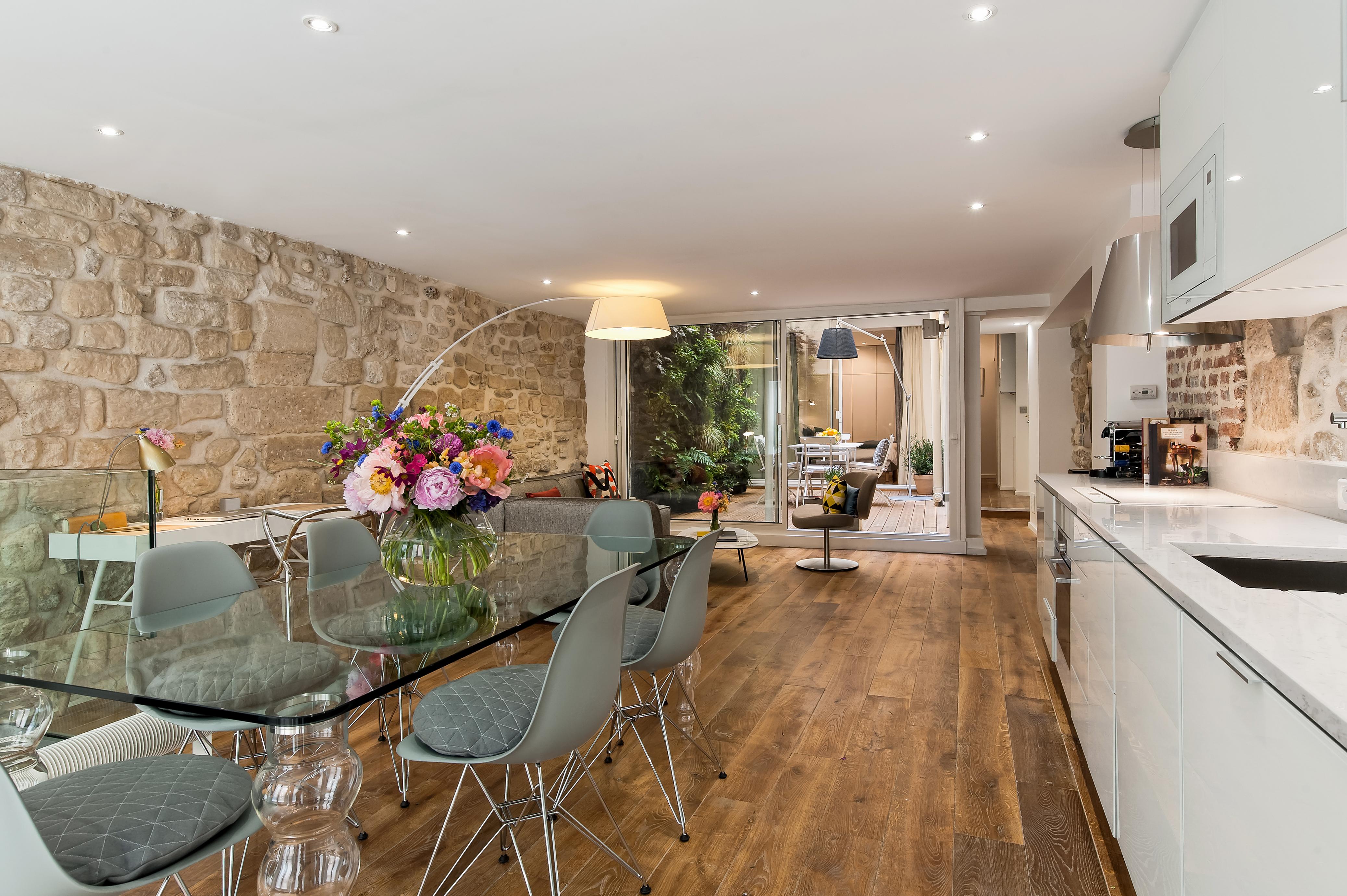Paris Vacation Apartment Rental | Marais Garden Oasis | Haven in