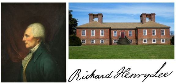 Richard-Henry-lee-home-and-signature.JPG