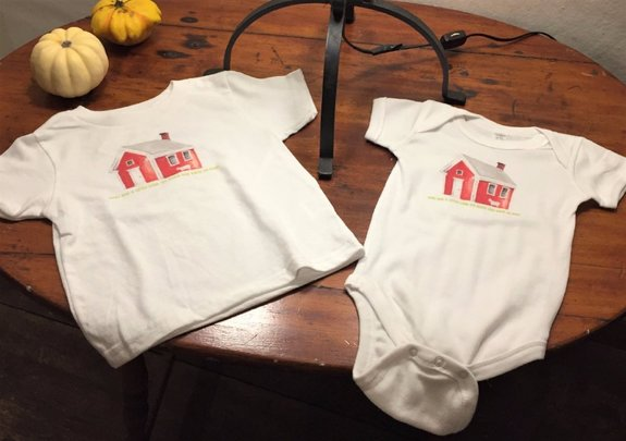 The Redstone Schoolhouse t-shirt and onesie