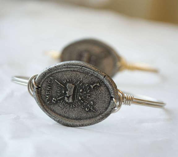 Stamp Act bracelet - silver