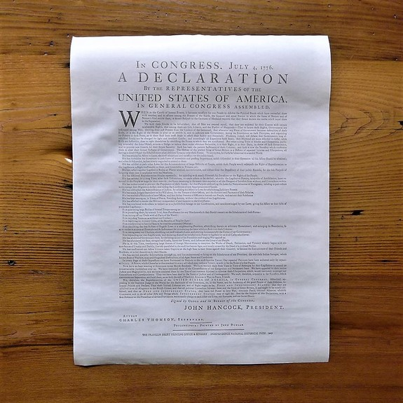 Declaration of Independence Philadelphia edition