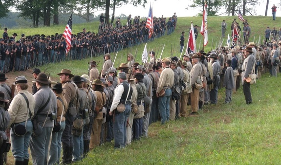 The 154th Anniversary of Battle of Resaca Civil War Reenactment