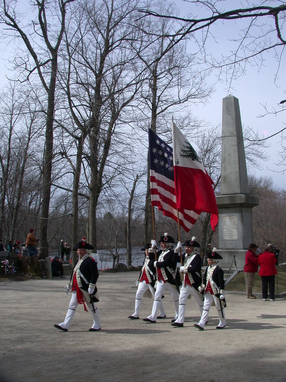Patriots Day at Minuteman National Park - North Bridge Ceremony - 2010