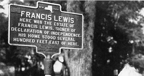Francis Lewis House Site