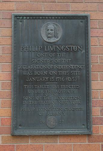 Philip Livingston Historical Marker