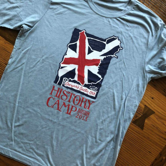 """Occupied Boston"" History Camp 2018 shirt"