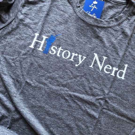 "Civil War ""History Nerd"" shirt in charcoal grey"