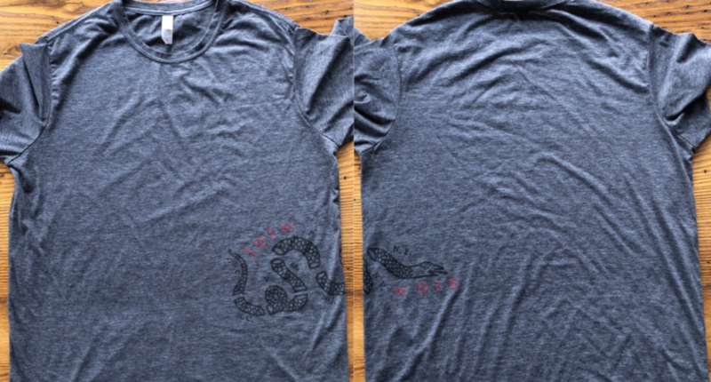 Join or Die shirt - Charcoal grey