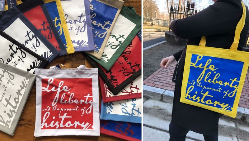 """Life, liberty, and the pursuit of history"" Tote bags"