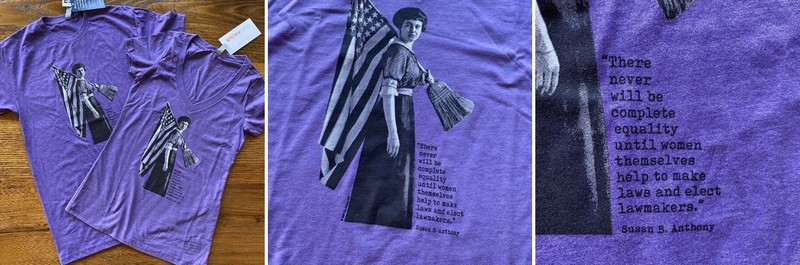 Women's Suffrage Shirt with Susan B. Anthony quote