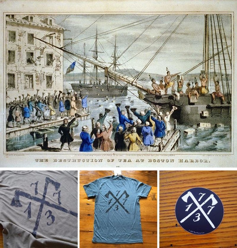 """1773 Boston Tea Party"""