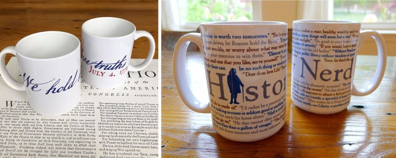 History coffee mugs