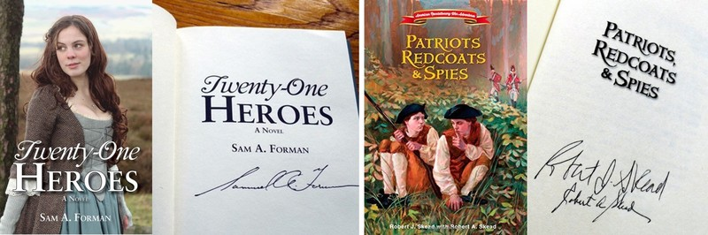 21 Heroes and Patriots, redcoats and spies book