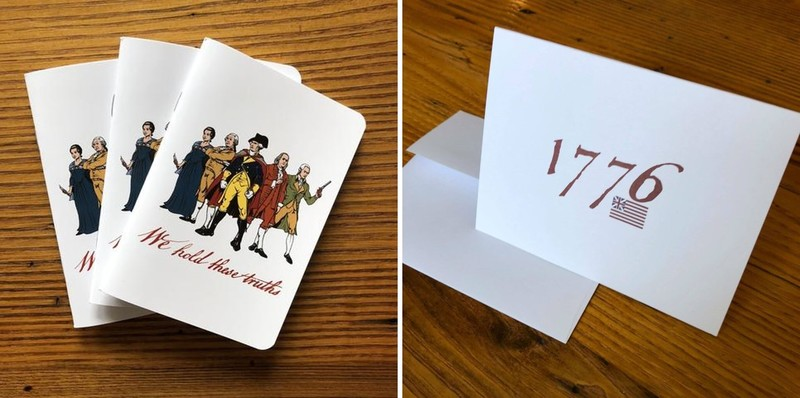Revolutionary Superheroes Pocket Notebook and 1776 Note Card from The History List