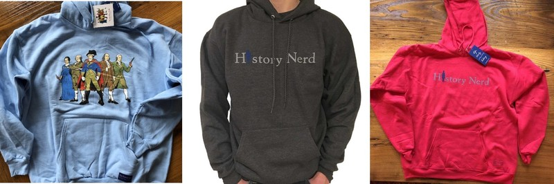 Pullover sweatshirts for history buffs from The History List