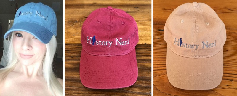 """History Nerd"" with Ben Franklin caps"