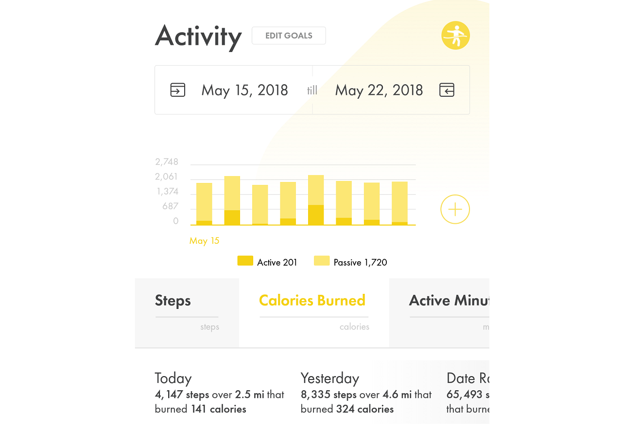 Image of (HiT's) Health info Tracker's activity details for viewing and editing activity data collected.