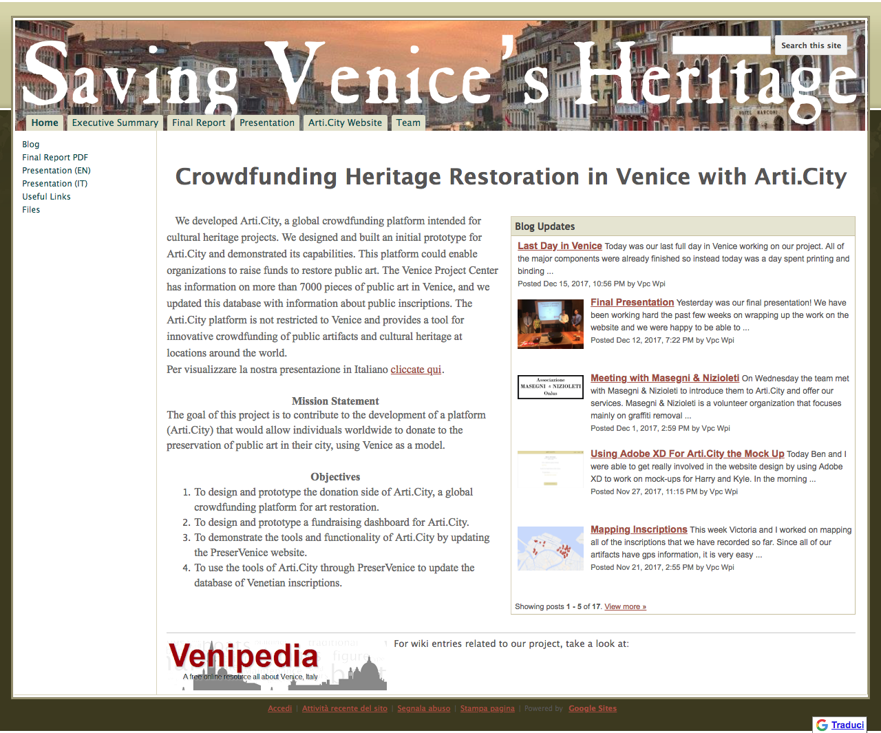 Venice Project Center - Student Projects