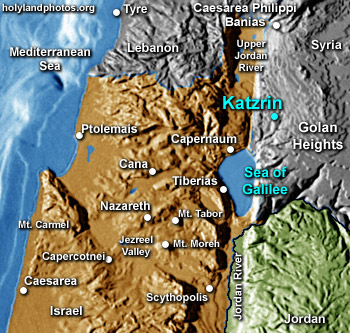 Katzrin Israel Map Holy Land Photos