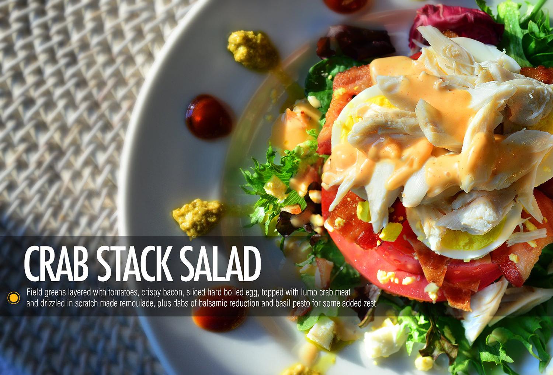 crab salad photography