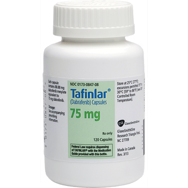 TAFINLAR (Dabrafenib) dosage, indication, interactions