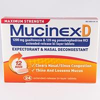 MAXIMUM STRENGTH MUCINEX D