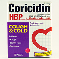 CORICIDIN HBP COUGH & COLD