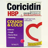 CORICIDIN HBP COUGH & COLD