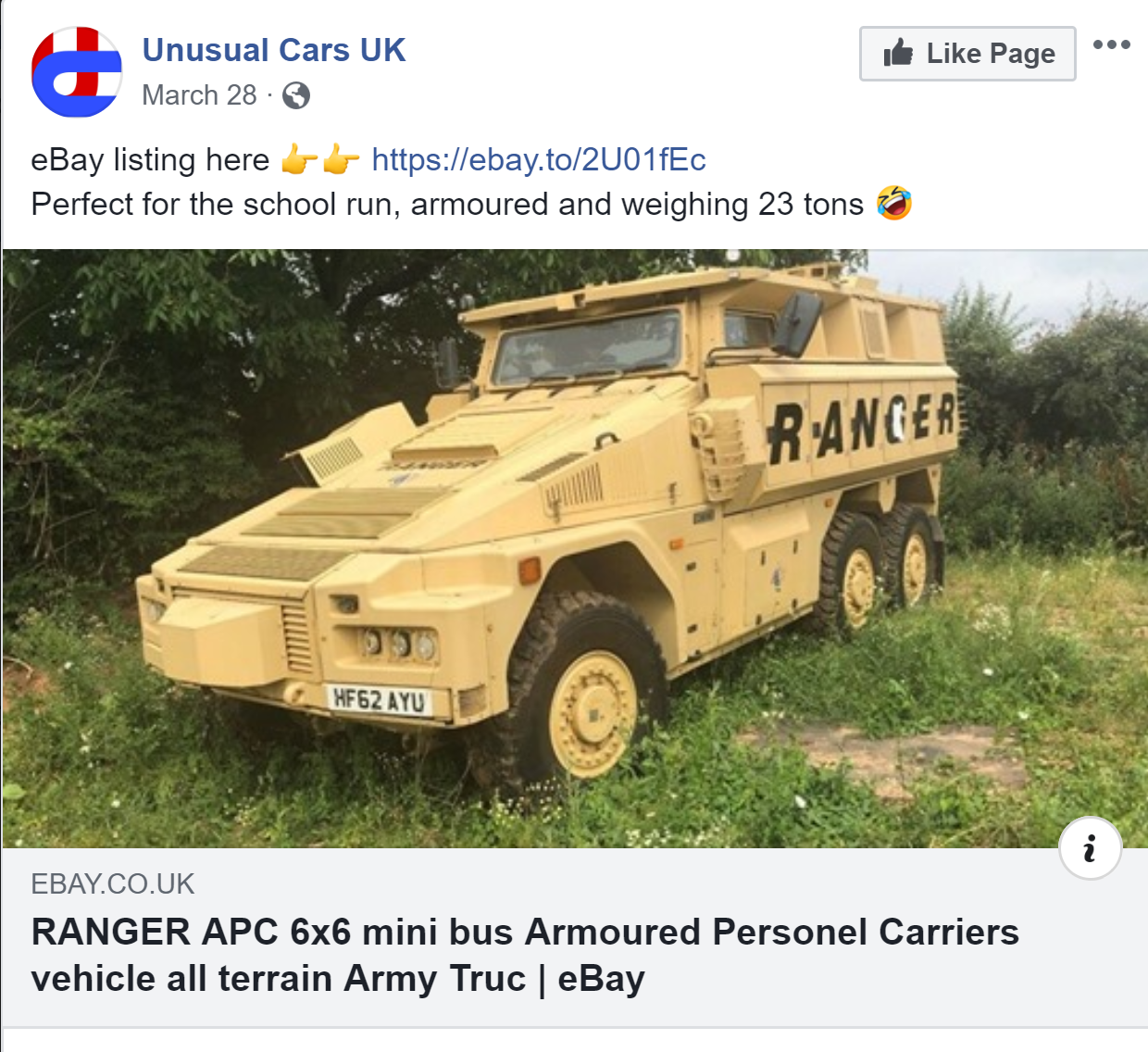 Out Come Of Ranger 6x6 On Ebay Heads Up For Sale Hmvf Historic Military Vehicles Forum