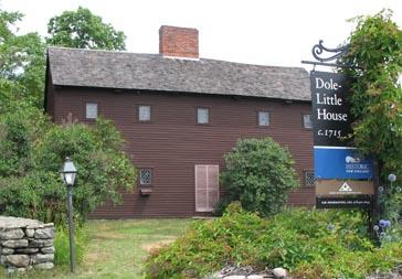 Exterior view of Dole-Little House, Newbury, Mass.
