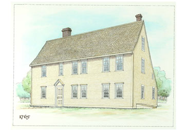 pierce house drawing in 1765