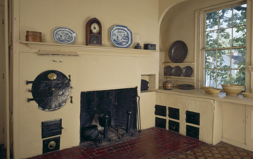 Kitchen Interior At Rundlet Mayhouse Historic New England