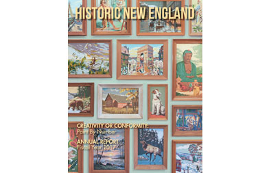 Cover, Historic New England Magazine, Fall 2017