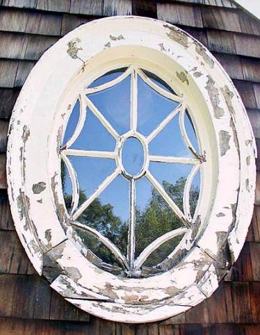 Closeup of deteriorated window