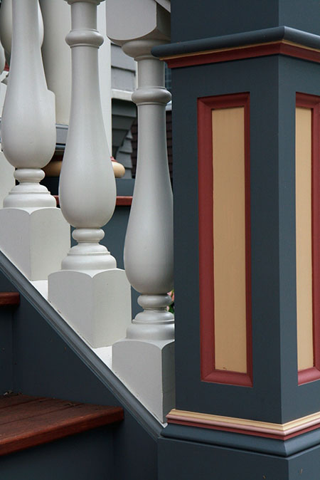 Porch stairs