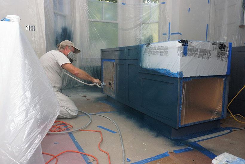 Painting kitchen island