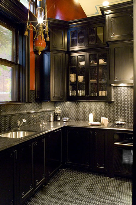 Kitchen in Back Bay home