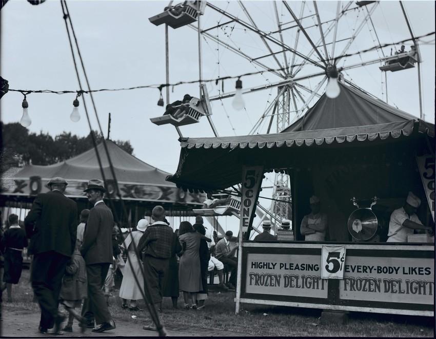 Frozen Delight ice cream stand, Topsfield Fair, 1933.