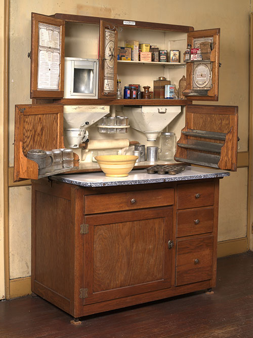 Hoosier cabinet in the kitchen of Castle Tucker