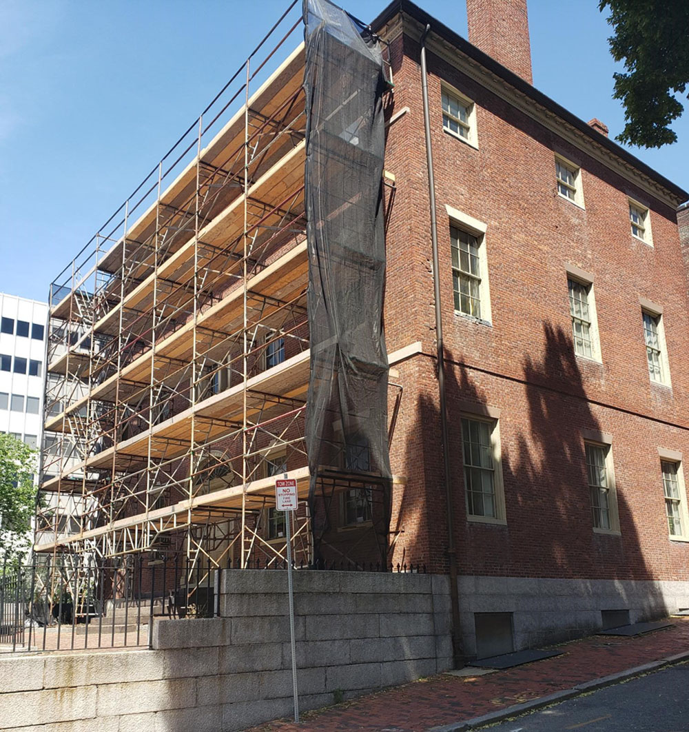 Scaffolding on Otis House