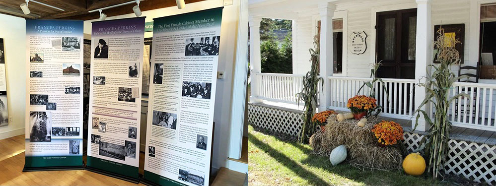 2018 grant recipients included, from left: Frances Perkins Center, Damariscotta, Maine; Brentwood Historical Society, New Hampshire