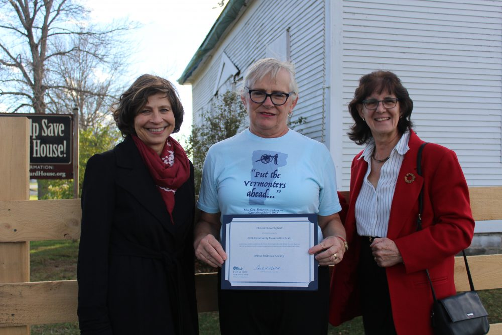 Charlotte Barrett presents a 2018 Community Preservation Grant in Vermont