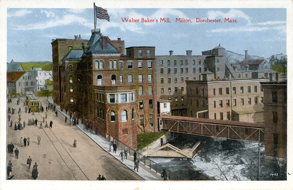 Postcard of Bakers Mill in Dorchester