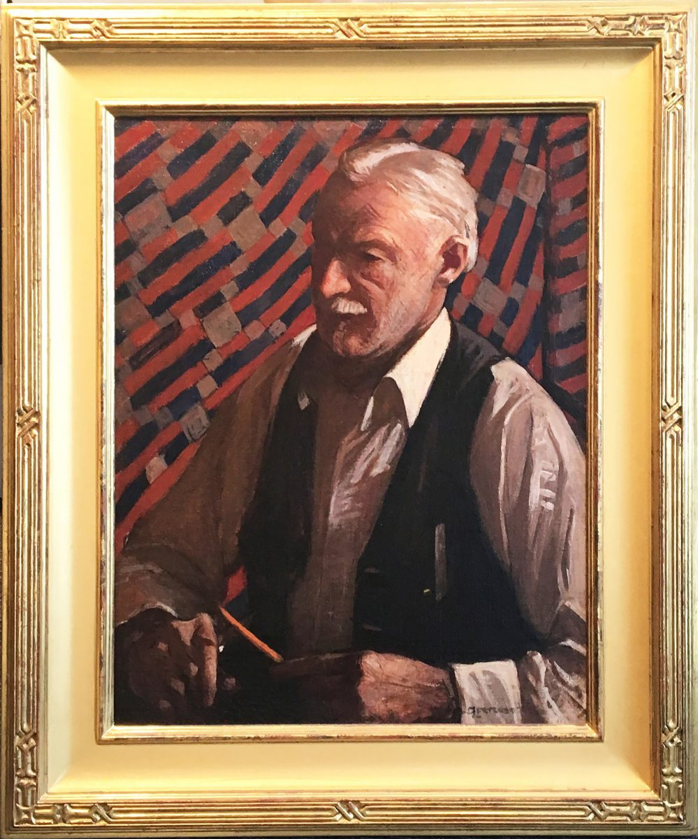 Gertrude Fiske portrait Man Whittling