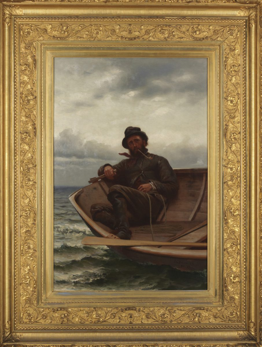 "Painting of sailor by JG Brown, ""Homeward Bound"""