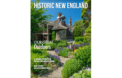 Cover of the summer 2019 issue of Historic New England magazine, featuring Beauport, the Sleeper-McCann House