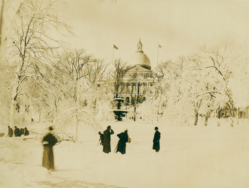 Boston Common under a blanket of snow