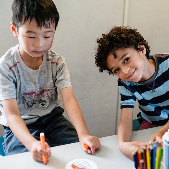 Students participate in an education program at Pierce House