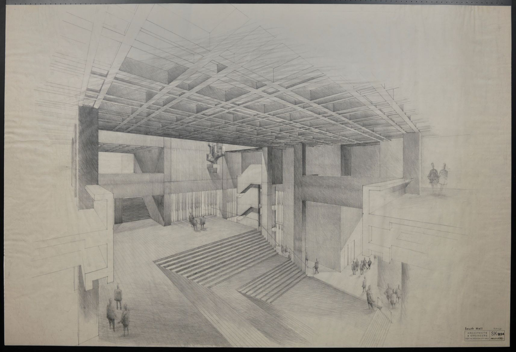 Boston City Hall architectural drawing